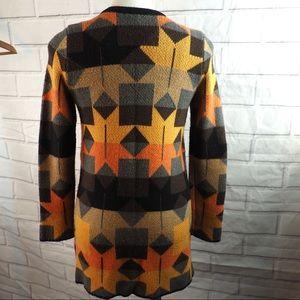 Mystree S starburst wool cardigan autumn colors